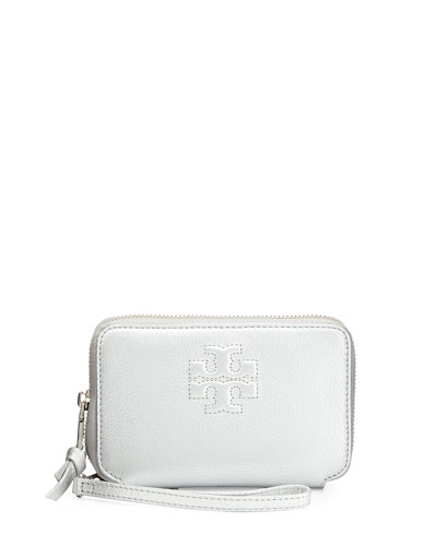 Thea Smartphone Wristlet Wallet, Silver