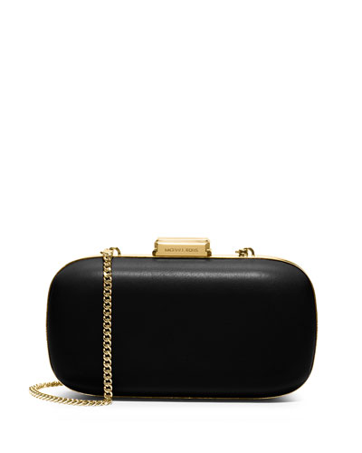 Elsie Dome Clutch Bag, Black
