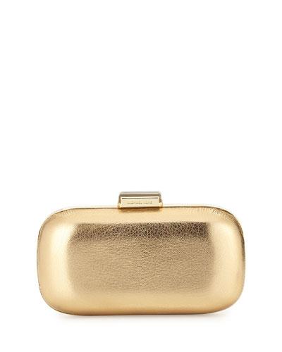 204faeb5cf79 MICHAEL Michael Kors Elsie Dome Evening Clutch Bag, Pale Gold