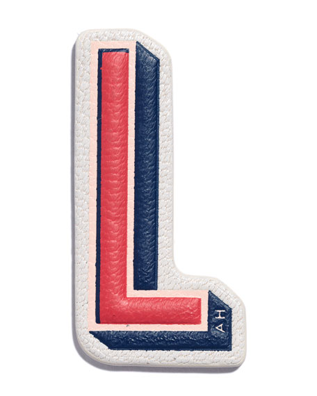 """L"" Leather Sticker for Handbag"