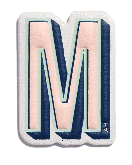 """M"" Leather Sticker for Handbag"