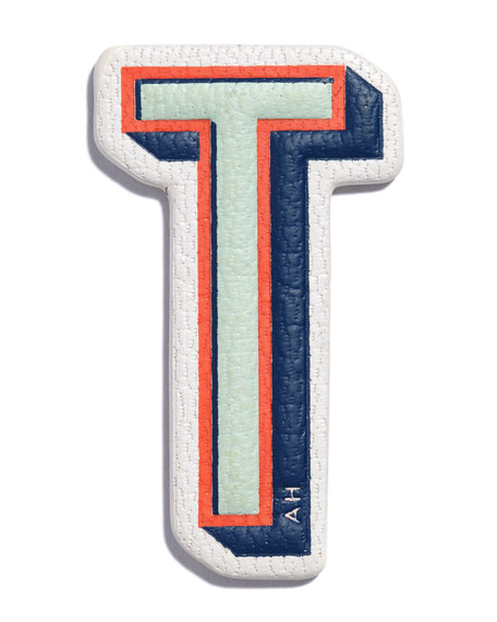"""T"" Leather Sticker for Handbag"