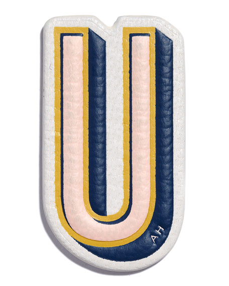 """U"" Leather Sticker for Handbag"