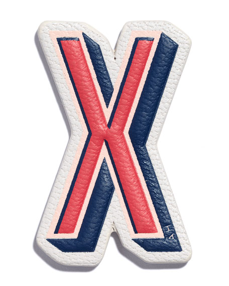 """X"" Leather Sticker for Handbag"