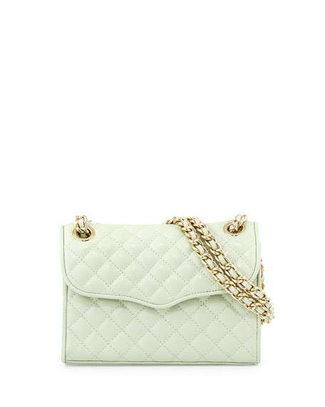 Quilted Affair Mini Shoulder Bag, Aloe