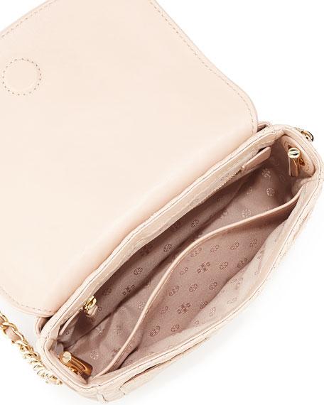 Marion Quilted Mini Shoulder Bag, Light Oak