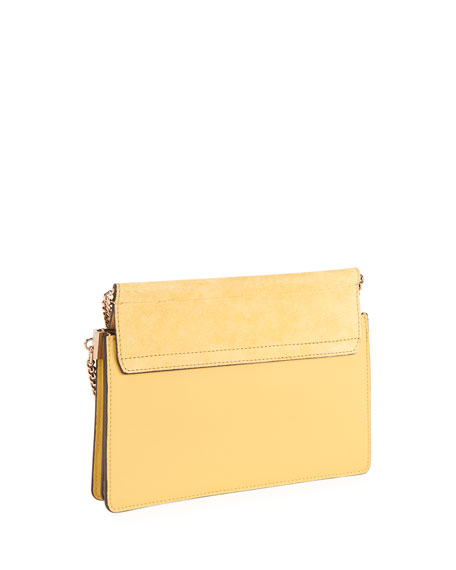 Image 2 of 5: Chloe Faye Small Suede/Leather Shoulder Bag