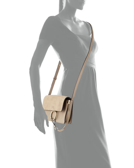 chloe faye small suede shoulder bag gray. Black Bedroom Furniture Sets. Home Design Ideas