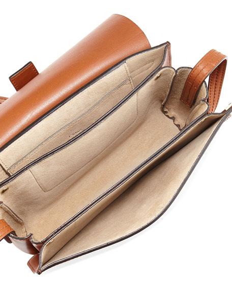 Chloe Faye Small Suede Shoulder Bag, Brown
