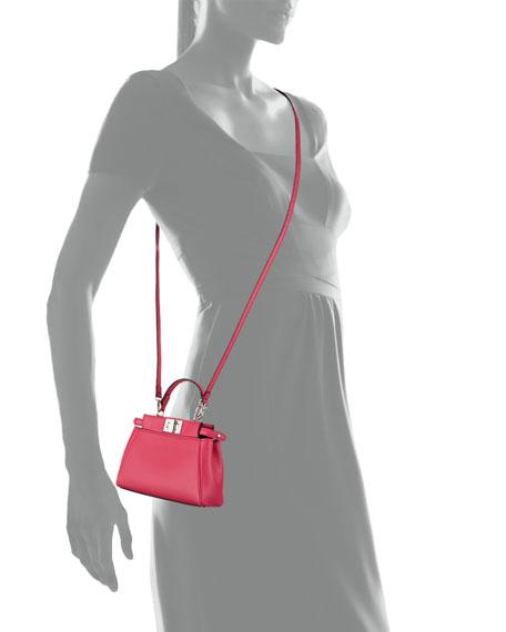 Peekaboo Micro Satchel Bag, Fuchsia