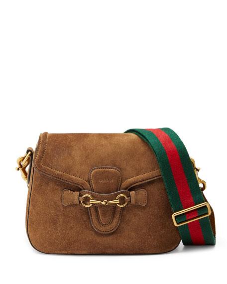 9a3d6d1b6075a8 Gucci Lady Web Medium Suede Shoulder Bag | Stanford Center for ...