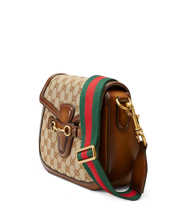 c17ce56493cffb Gucci Lady Web Medium Original GG Canvas Shoulder Bag, Beige | Neiman Marcus