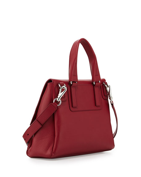 Pandora Pure Small Leather Satchel Bag, Cherry