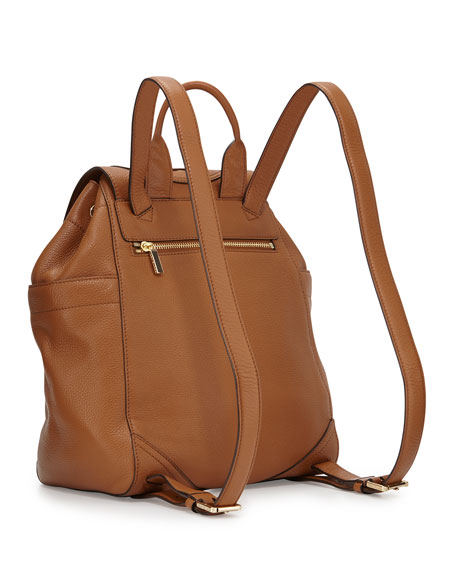 All-T Drawstring Fold-Over Backpack, Brown