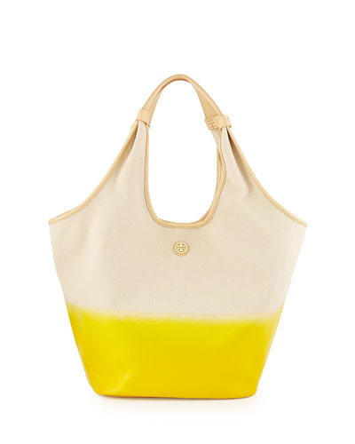 Tory Burch Medium Slouchy Hobo Bag, Natural/Yellow