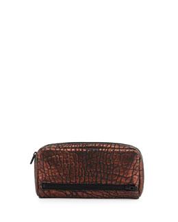 Fumo Continental Zip Wallet, Bronze/Black