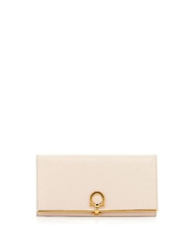 Icona Continental Flap Wallet, Macaron