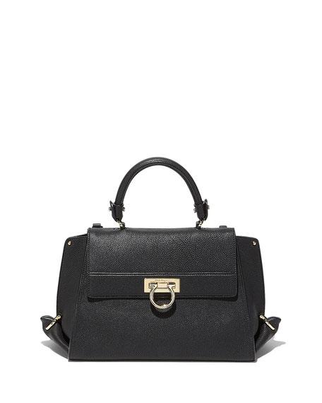 808be135824d Salvatore Ferragamo Sofia Medium Flap Satchel Bag