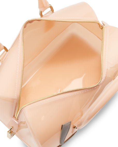 "Candy ""Love"" Satchel Bag, Pale Pink"