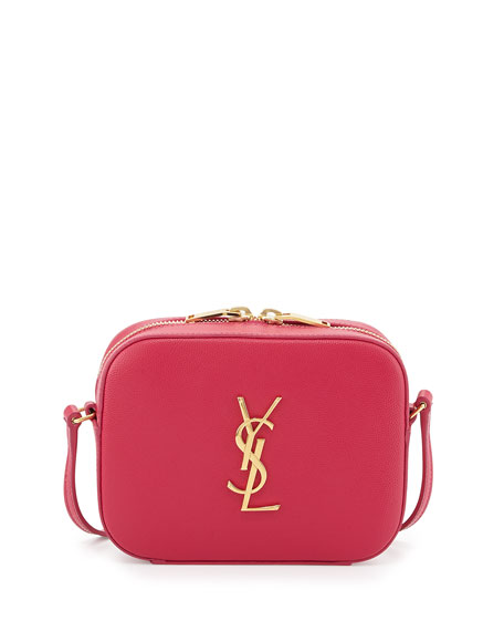 Monogram Camera Crossbody Bag, Fuchsia