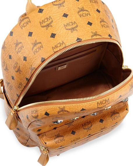 Stark Medium Logo Backpack, Cognac