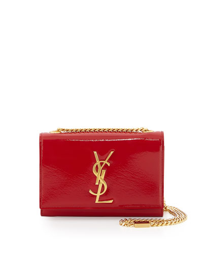 red ysl wallet