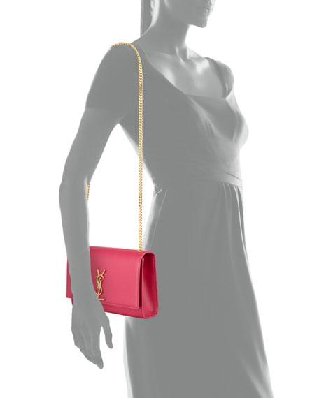 Saint Laurent Monogram Medium Chain Shoulder Bag, Fuchsia