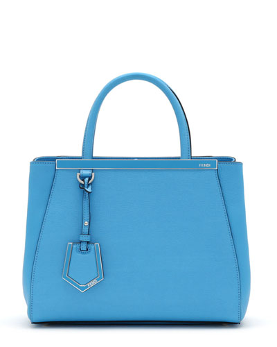 2Jours Petite Shopping Tote Bag, Turquoise Blue