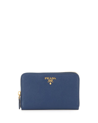 0e86326a6d37 Prada Saffiano Leather French Wallet, Blue (Bluette) Order Now ...