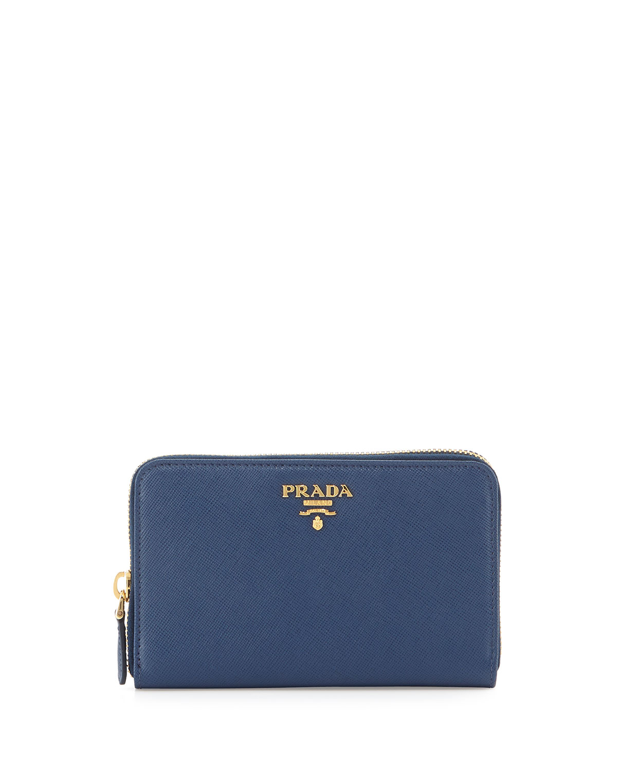 7edcc2dcb970 Prada Saffiano Leather French Wallet, Blue (Bluette) | Neiman Marcus
