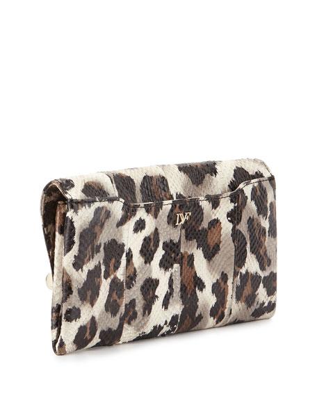 440 Snake Envelope Clutch Bag, Vintage Leopard