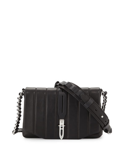 Enfield Quilted Leather Mini Bag, Black