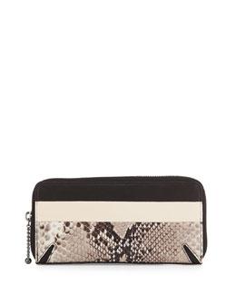 Crosby Continental Wallet, Fawn Python Print