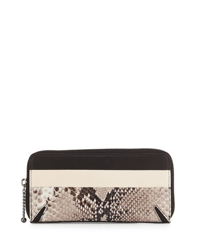 Crosby Continental Wallet, Fawn Python Print