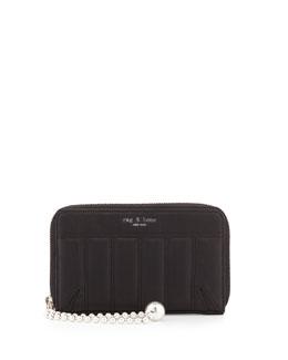 Devon Mobile Phone Zip Wallet, Quilted Black