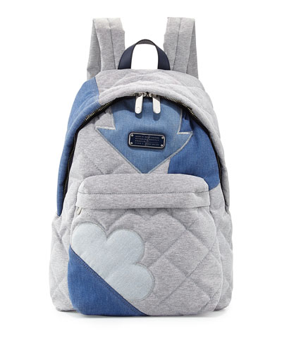 Crosby Quilted Denim Backpack, Pacific Ocean