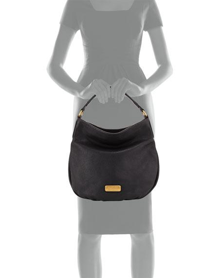 New Q Hillier Hobo Bag, Black