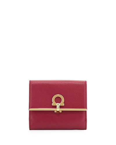 Icona Flap Wallet, Vin (Burgundy)