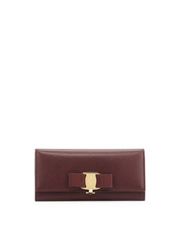 Miss Vara Continental Wallet, Rouge Noir