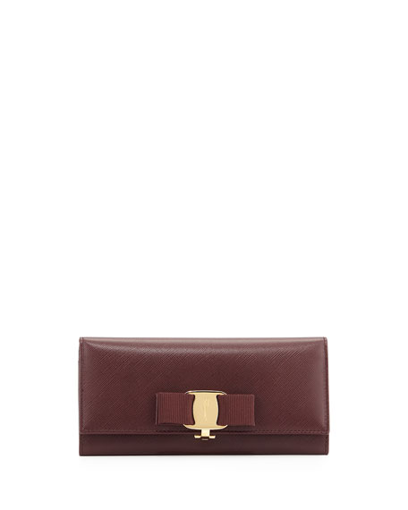Salvatore Ferragamo Miss Vara Continental Wallet, Rouge Noir