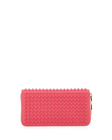 Panettone Spike Stud Continental Wallet, Pink