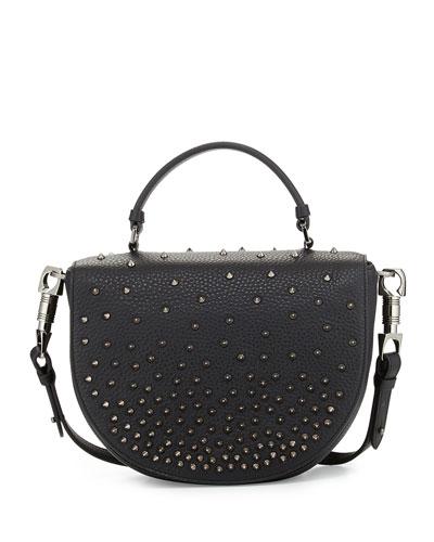 Panettone Degrade Spike Messenger Bag, Black
