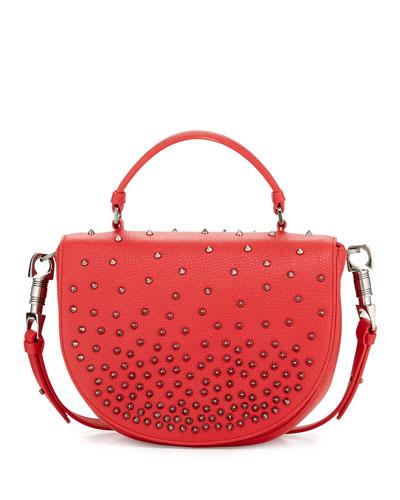Panettone Degrade Spike Messenger Bag, Red
