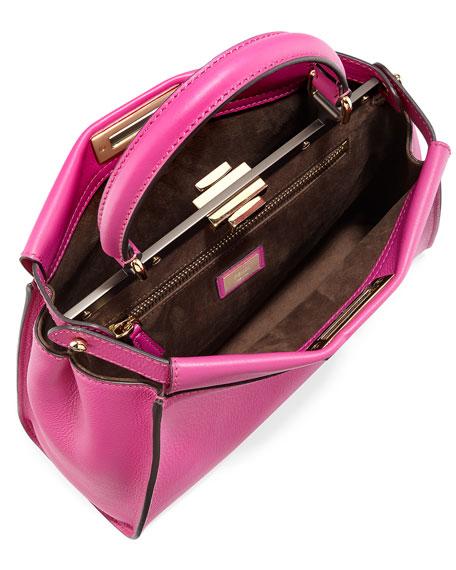 Peekaboo Medium Satchel Bag, Magenta