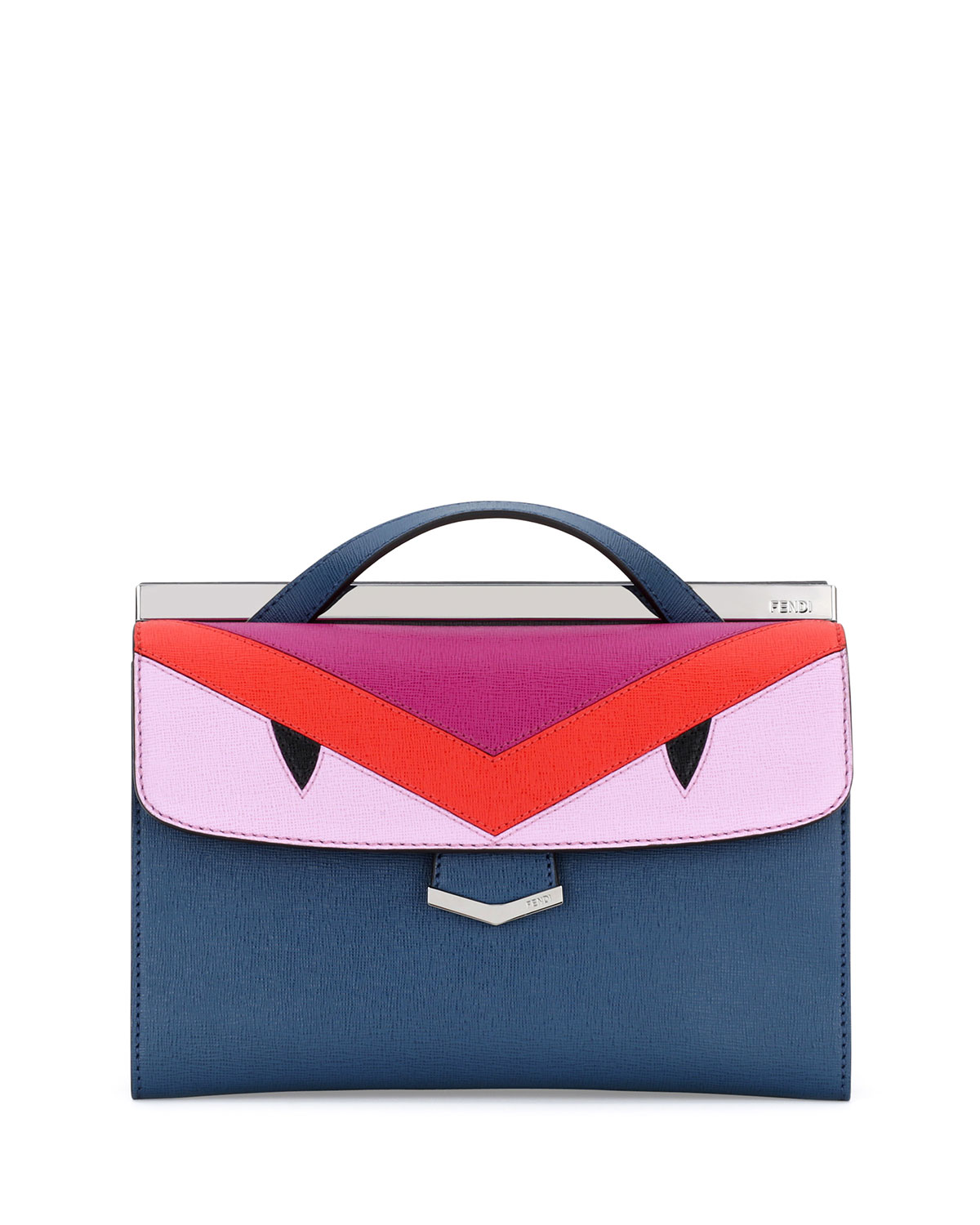 Fendi Demi Jour Mini Monster Bag, Blue Multi   Neiman Marcus 5ee6d1ba93