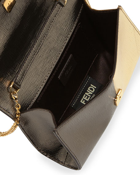 Fendi Metallic Clutch