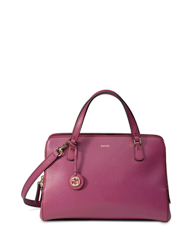 Lady Dollar Medium Top Handle Bag, Pink