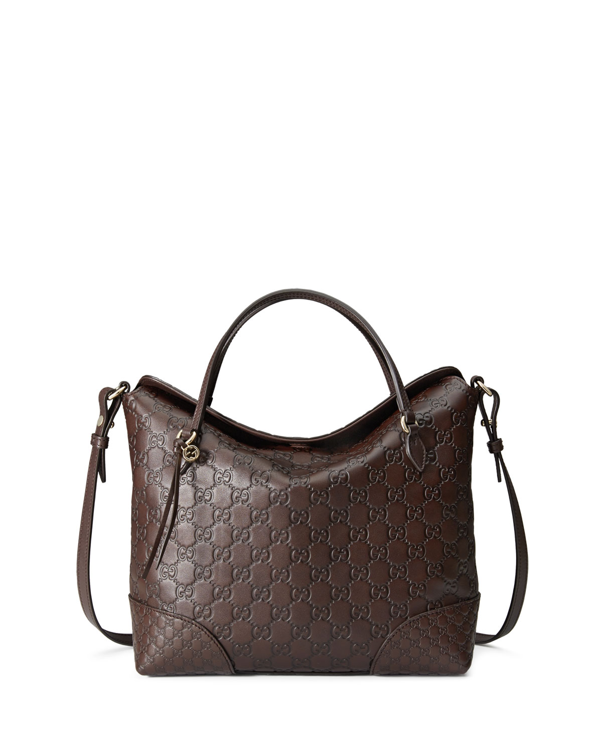 c802fb1d437078 Gucci Bree Guccissima Leather Top Handle Bag, Chocolate | Neiman Marcus