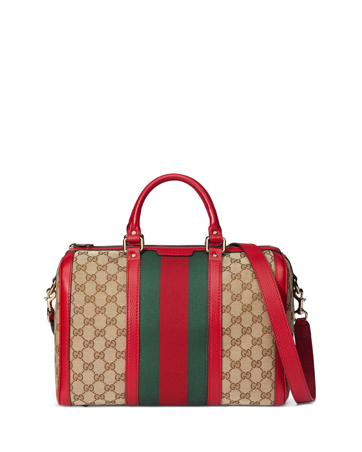 d2cfce48b1f Gucci Vintage Web Original GG Canvas Boston Bag