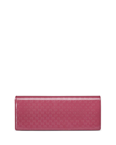 6be4688952c7 Gucci Broadway Microguccissima Patent Leather Evening Clutch Bag, Pink
